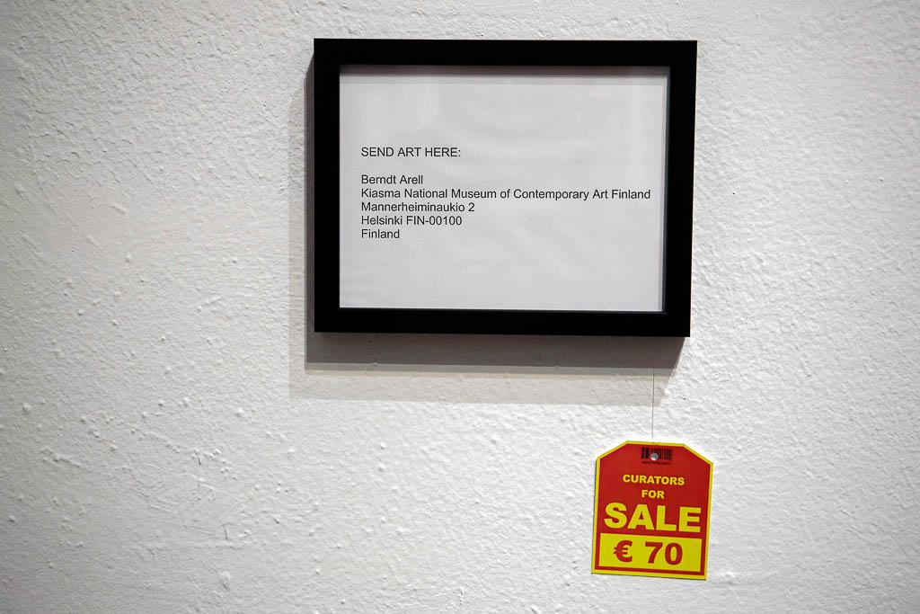 Tomas Ivan Träskman, Curators for sale, 2008, Künstlerhaus Wien, Vienna (AUT)