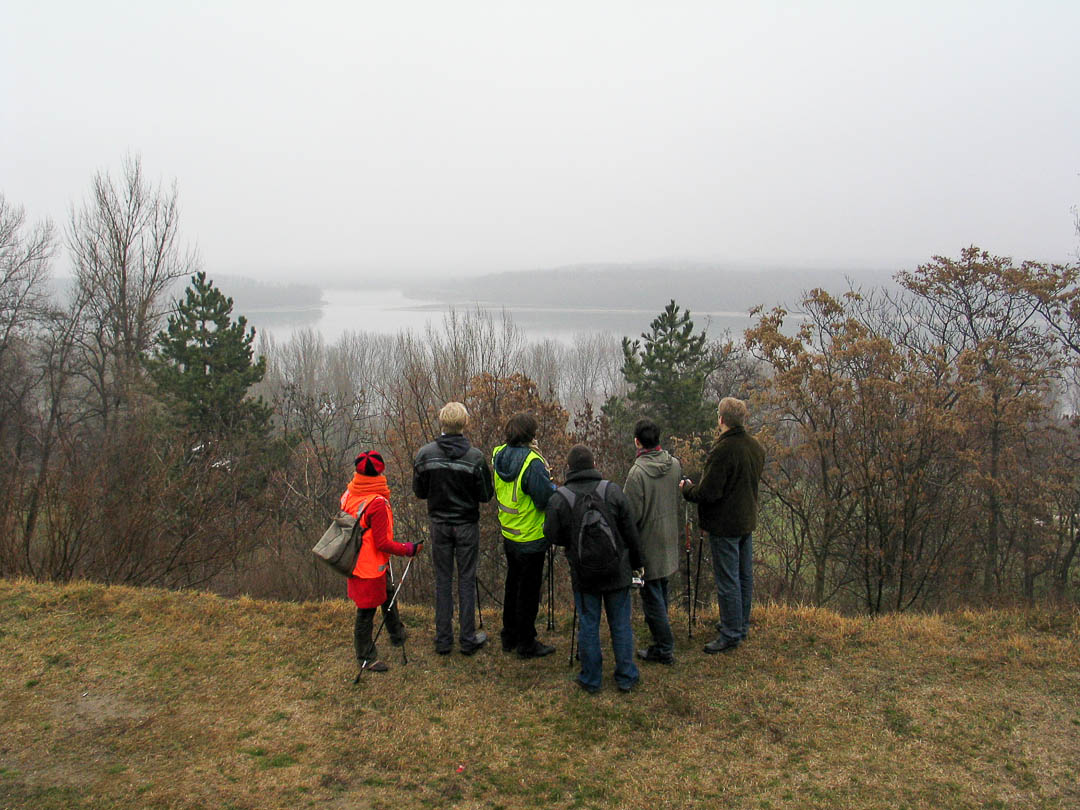 Guided Nordic, 2003, Walking-tour in Dunaujvaros sculpture park (HU)