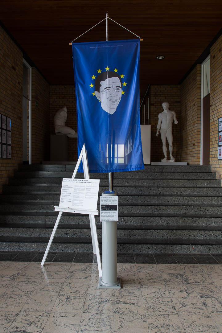 United against Populism!, 2014, Rettet Europa III, Tempel Museum, Etsdorf (D)